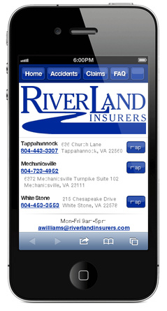 m.riverlandinsurers.com website preview